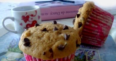 Muffin al caffè con gocce di cioccolato- wings of sugar blog