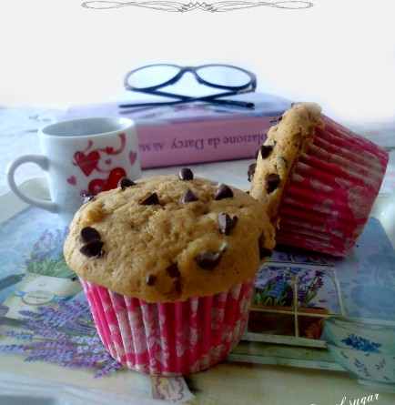 Muffin al caffè con gocce di cioccolato- wings of sugar blog