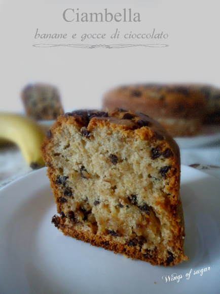 ciambella di banane e gocce di cioccolato- wings of sugar blog