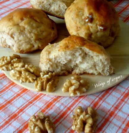 Brioche soffici alle noci ricetta - wings of sugar blog -