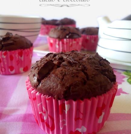 Muffin al cacao con pezzetti di cioccolato fondente ricetta