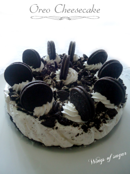 Oreo Cheesecake- wings of sugar blog --