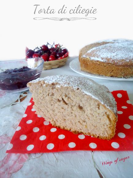 Torta di ciliegie con confettura nell'impasto - wings of sugar blog