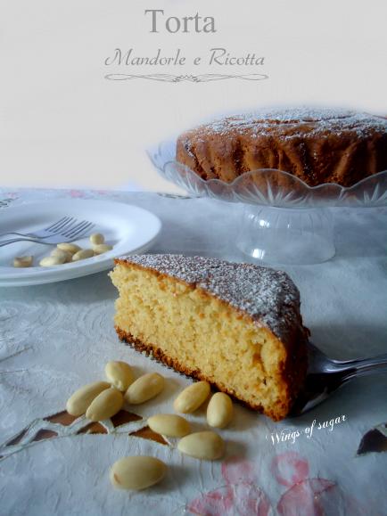 Torta di mandorle e ricotta - wings of sugar blog