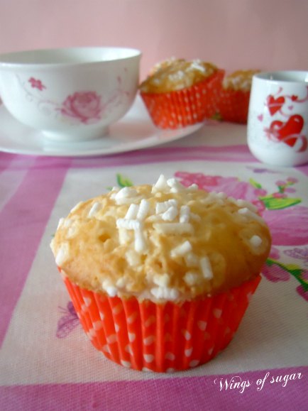 Muffin al cocco ricetta - wings of sugar blog