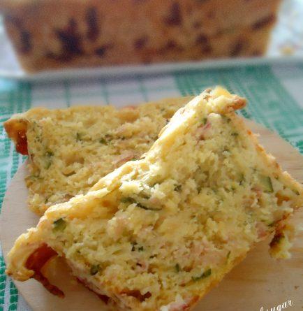 Plumcake con zucchine mozzarella e prosciutto cotto - wings of sugar blog