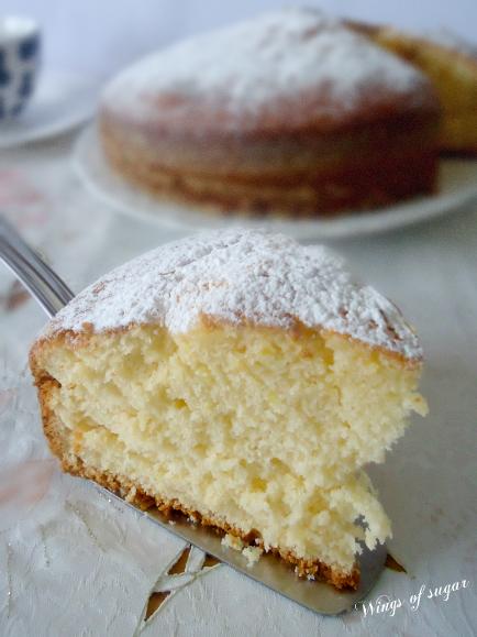 Torta al limone alta e soffice - wings of sugar blog