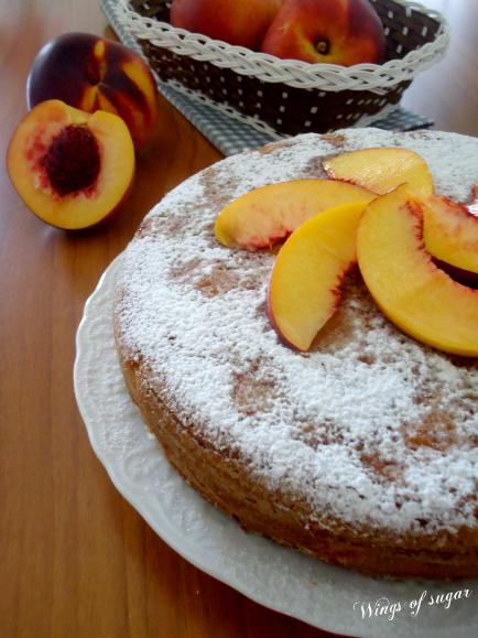 Torta alle pesche fresche e yogurt - wings of sugar blog