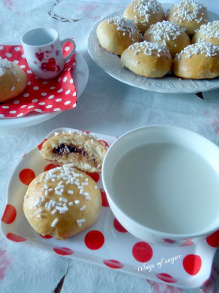 panini di brioche con crema di latte al cioccolato ricetta - wings of sugar blog