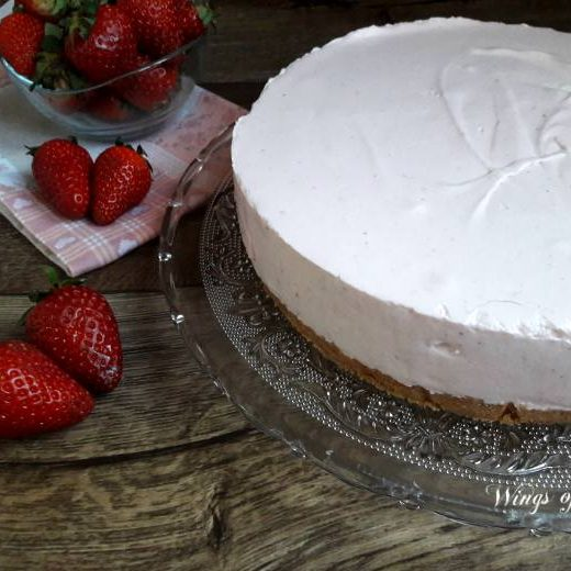 Cheesecake alle fragole - wings of sugar blog
