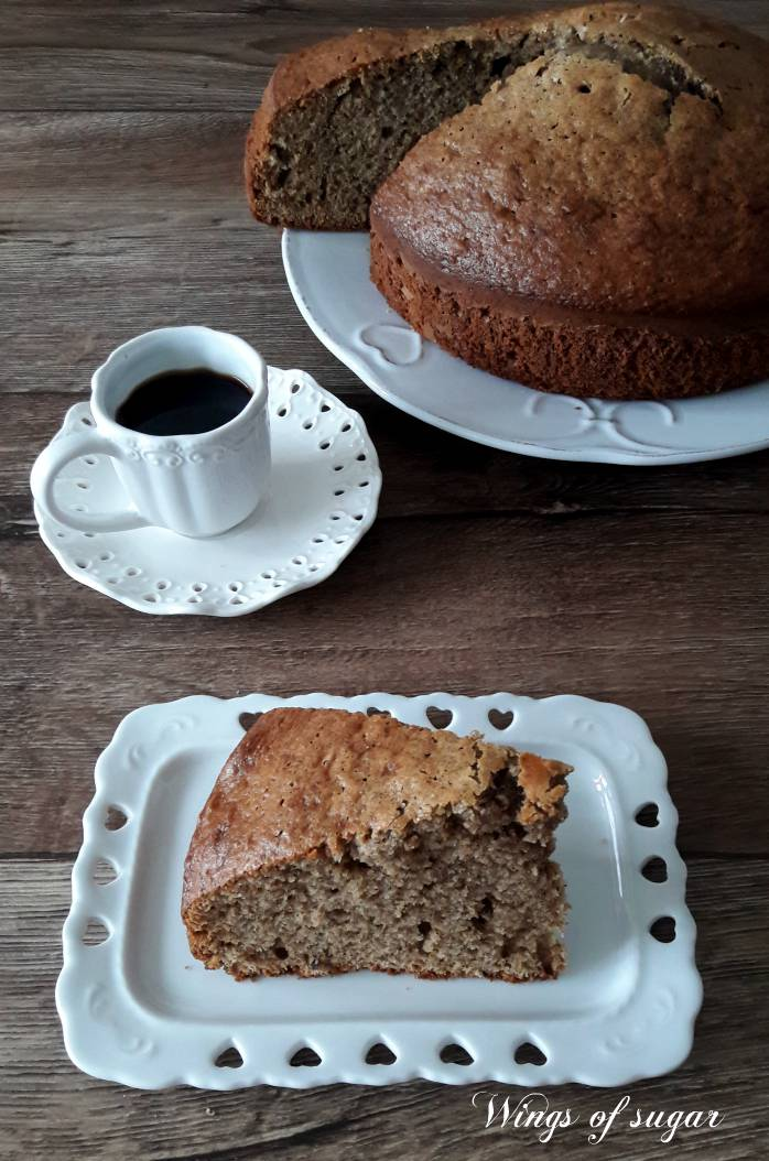Torta al caffè con yogurt di soia ricetta senza lattosio ; Wings of sugar blog