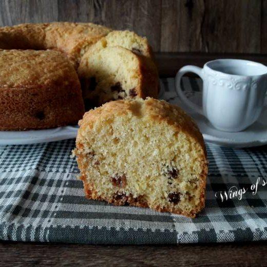 Ciambella al limone con uvetta- Wings of sugar blog