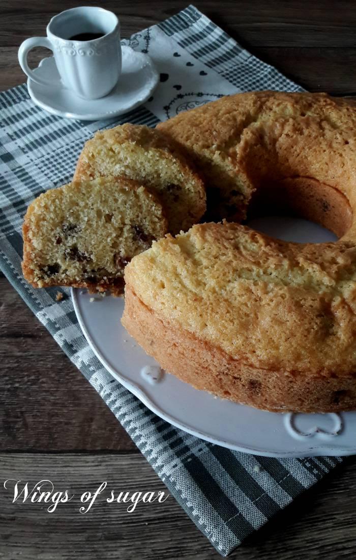 Ciambella al limone con uvetta --Wings of sugar blog