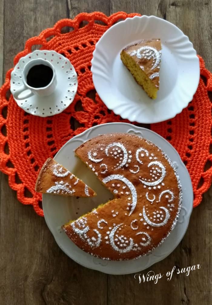 Torta di zucca ricetta con zucca cruda ; Wings of sugar blog