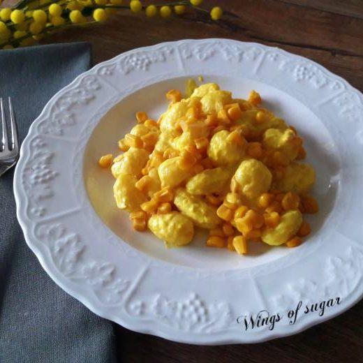 Gnocchi mimosa ; Wings of sugar blog