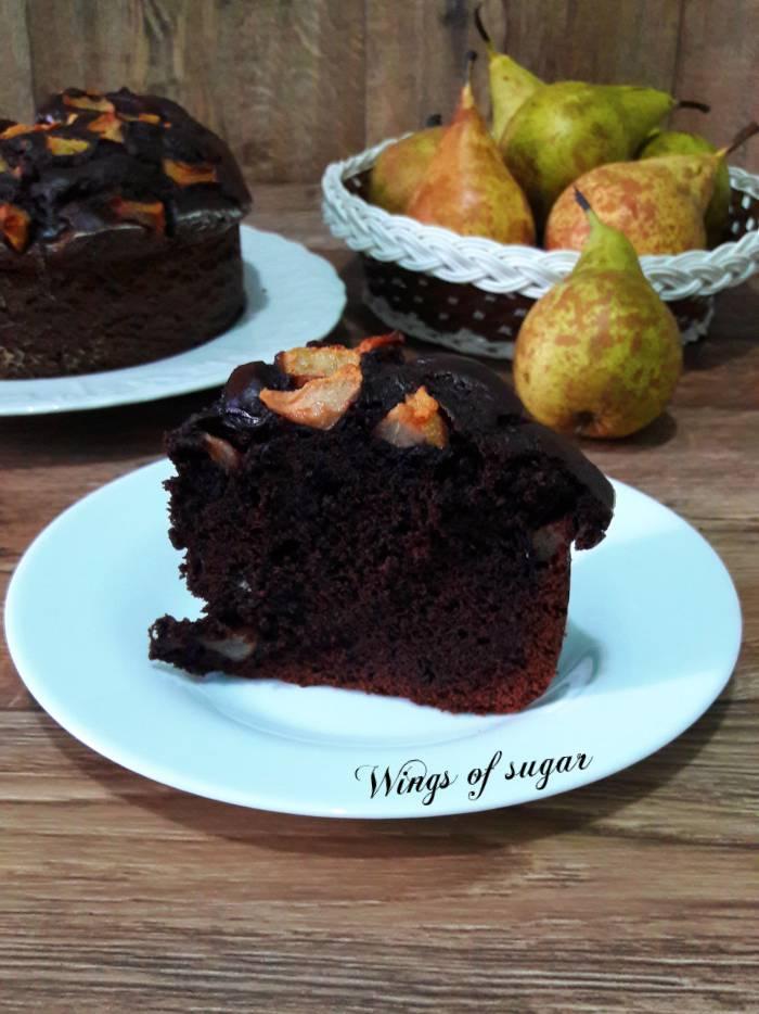 Torta al cacao con pere - Wings of sugar