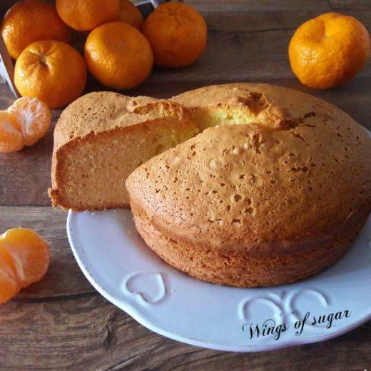 Torta al mandarino ricetta semplice - Wings of sugar blog