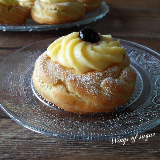 Zeppole di San Giuseppe al forno ; Wings of sugar blog