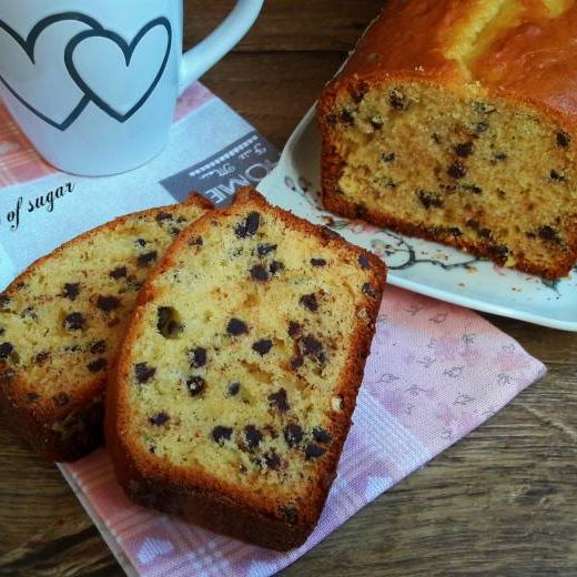 plumcake con gocce di cioccolato ; wings of sugar blog