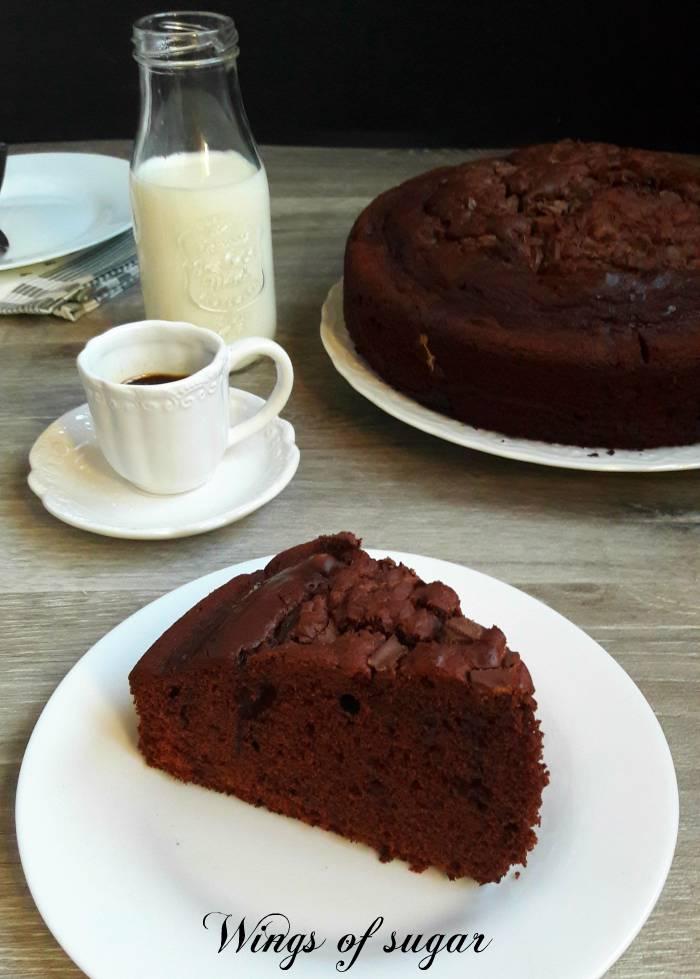 torta al cioccolato con mascarpone nell'impasto; Wings of sugar blog
