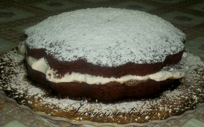 Torta panna e nutella la cucina di rosy - Bagno nella nutella ...