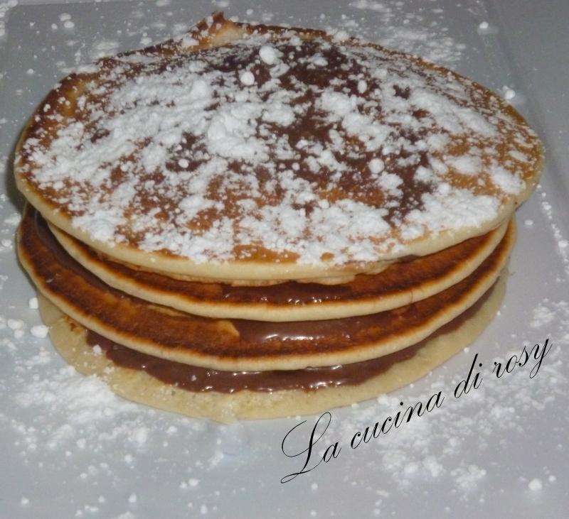 pancakes alla nutella sono deliziosi frittelle americane non ho ...