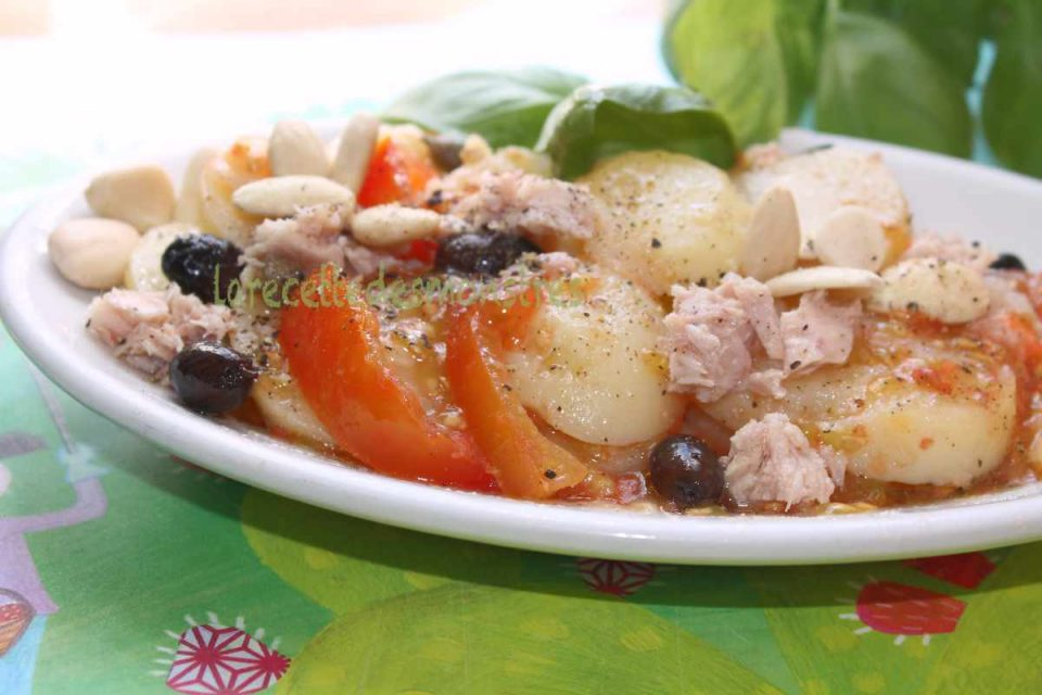 insalata di patate e mandorle