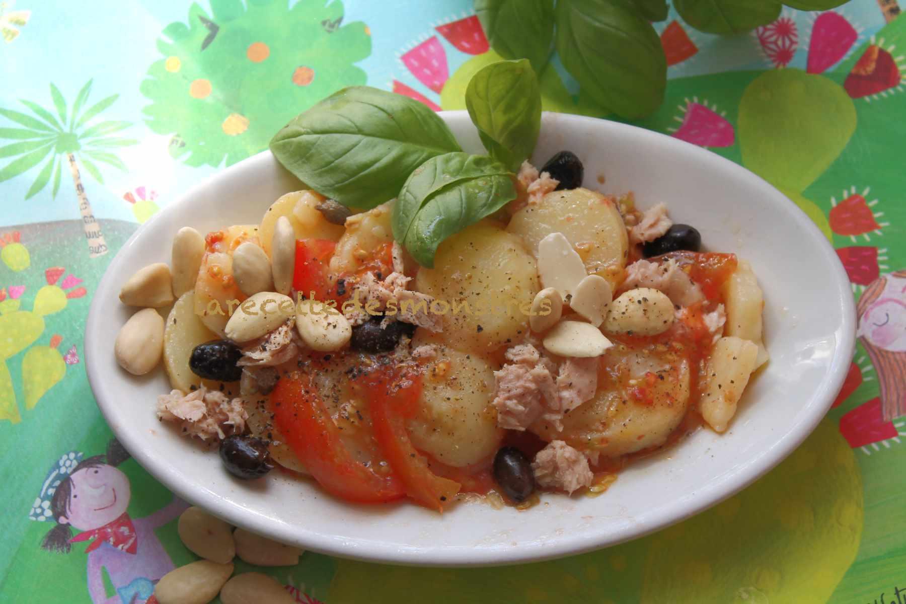 insalata di patate con mandorle