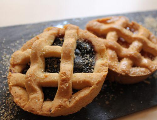 Crostatine di marmellata ricetta facile senza burro