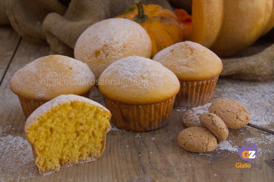 muffins con zucca e amaretti