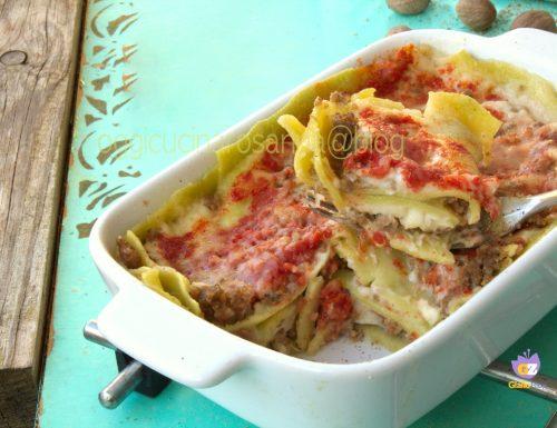 Lasagne verdi con ragù e besciamella