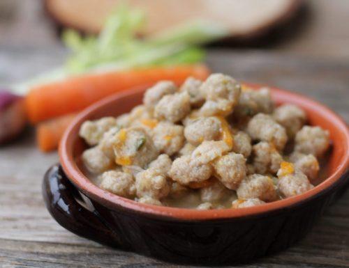 Polpettine in brodo vegetale ricetta normale e bimby