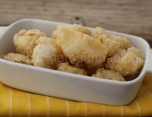 Baccala' fritto con farina di riso