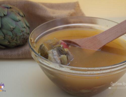Brodo di carciofi (metodo tradizionale e bimby)
