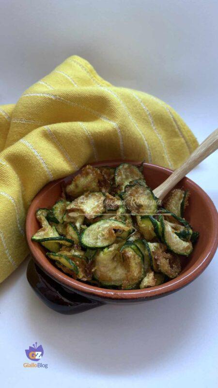 zucchine chips fritte