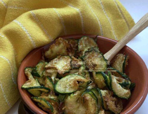Zucchine chips fritte -ricetta velocissima-