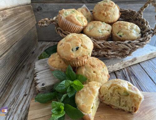 Muffin salati con zucchine al profumo di menta