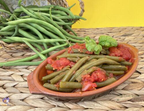 Fagiolini al pomodoro -ricetta pugliese-
