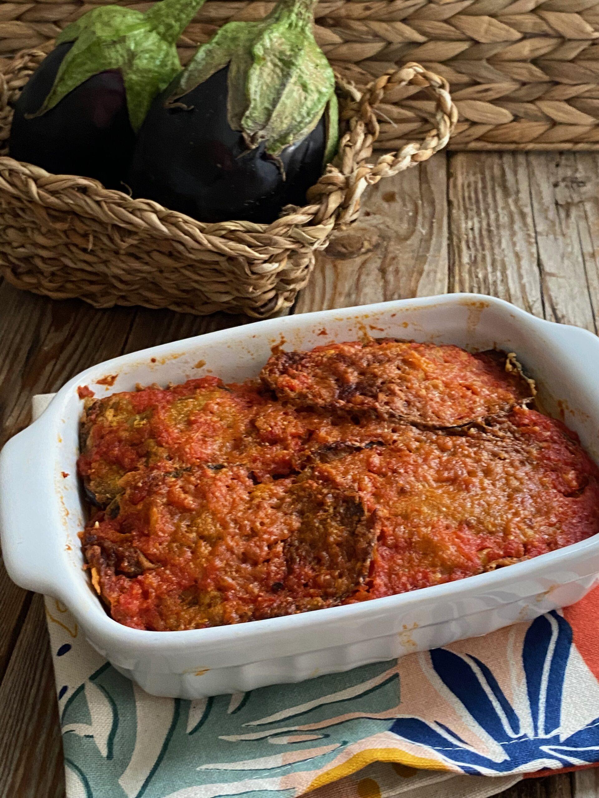 Parmigiana di melanzane fritte con pasta