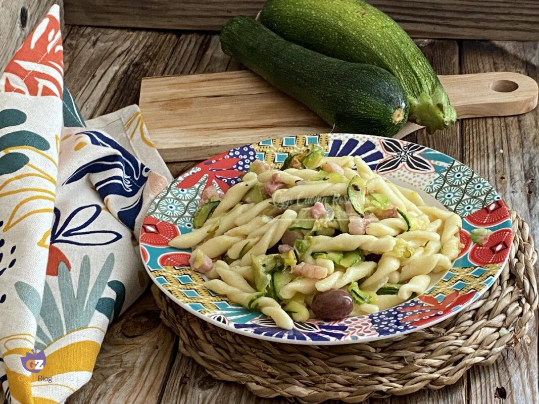 trofie con zucchine e pancetta