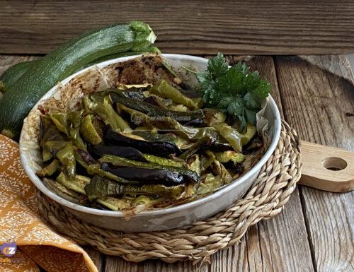 Melanzane e zucchine  cotte in forno con glassa all'aceto balsamico