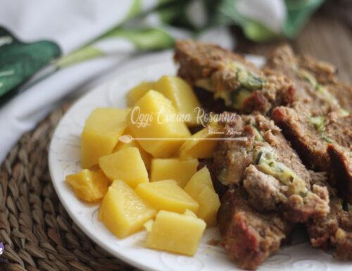 Polpettone morbidissimo ripieno al forno con patate