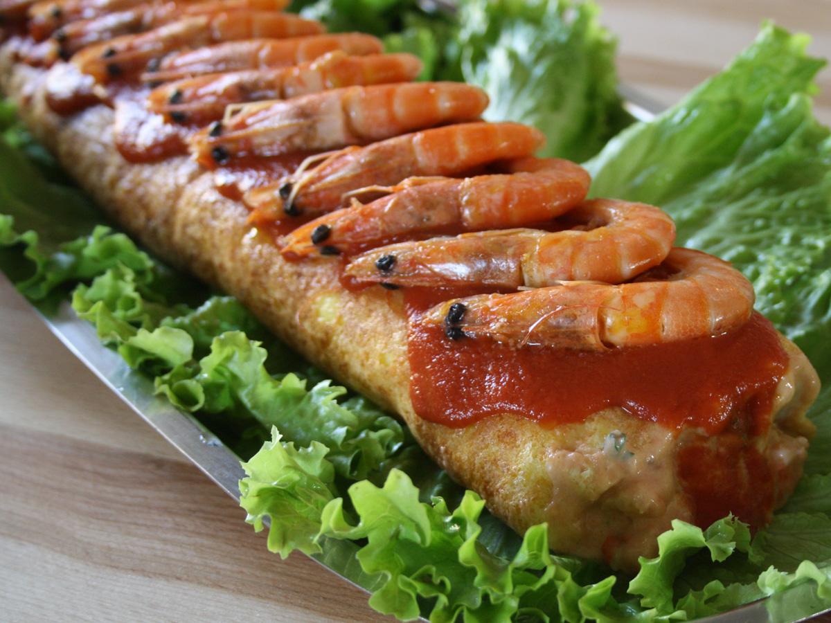 Rocambole de camarão (Rotolo di gamberetti)