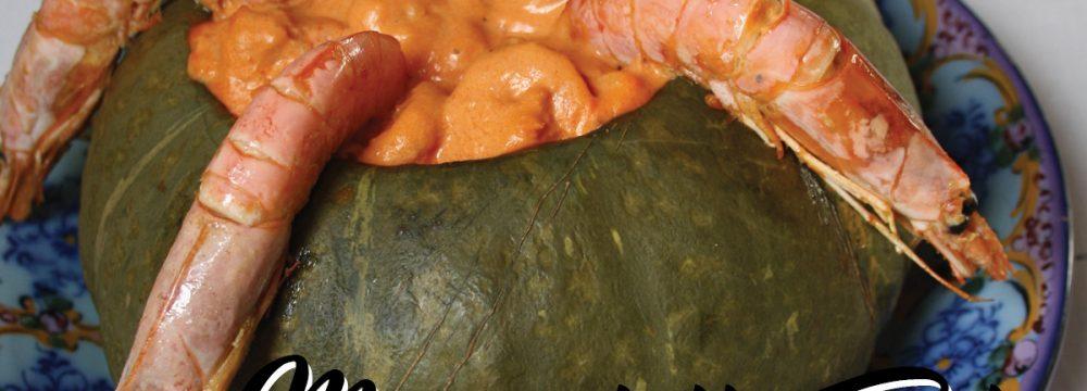 IL MENU DELLE FESTE: Camarão na moranga (Zucca ripiena di gamberi)