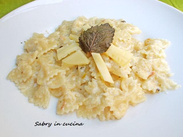 pasta carciofi fontina