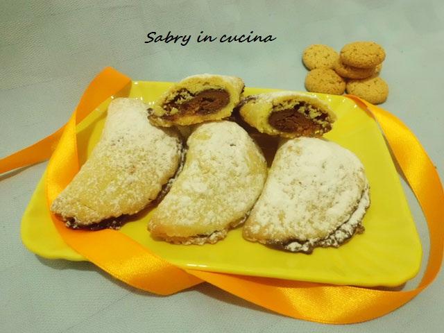 ravioli nutella ed amaretti sabry in cucina