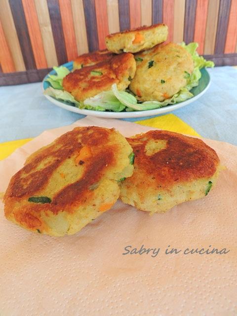 medaglioni di patate e verdure
