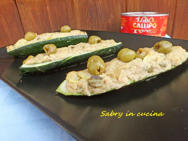 Zucchine farcite tonno olive
