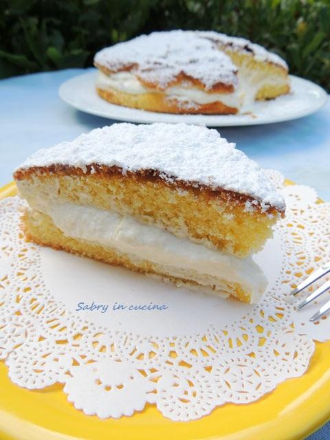 torta paradiso crema cocco