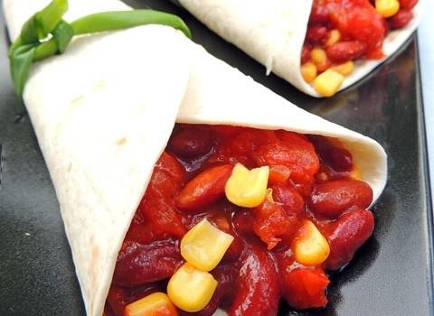 tortillas fagioli rossi e mais
